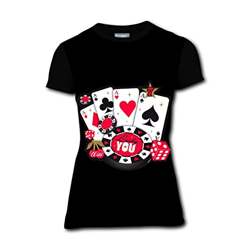 LLBabyMomT Poker Card A 7 Dices T-Shirts Tee