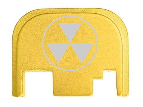 for Glock Back Plate Gen 1-4 17 19 21 22 23 27 30 34 36 41 Gold NDZ - Fallout Shelter Symbol Semi Solid