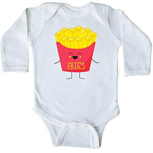 inktastic - French Fries Costume Long Sleeve Creeper 6 Months White -