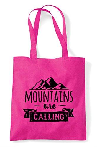 Tote Shopper Adventure Mountains Calling Bag Are Fuschia Statement zapITwqWI