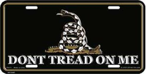 Used, Don't Tread on Me - Gadsden Tea Party License Plate for sale  Delivered anywhere in USA