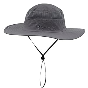 Connectyle Outdoor Mesh Sun Hat Wide Brim Sun Protection Hat Fishing Hunting Hiking Hat