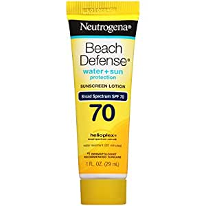 Neutrogena Beach Defense Sunscreen Lotion Broad Spectrum SPF 70, 1 Fl. Oz (Pack of 48)