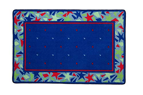 Kids Area Rug, Boys Abstract Stars in Blue, Green and Red | Delta Children Children's -