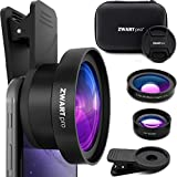 ZWARTpro 2 in 1 HD Phone Camera Lens Kit: 0.45x Wide Angle, 15x