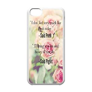 Diy Beautiful Quotes Sunflower Phone Case for iphone 5c White Shell Phone JFLIFE(TM) [Pattern-1]