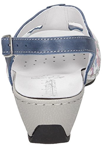 Manitu Donna Sandali Blau (5) Multi Color, (Blau (5)) 710866