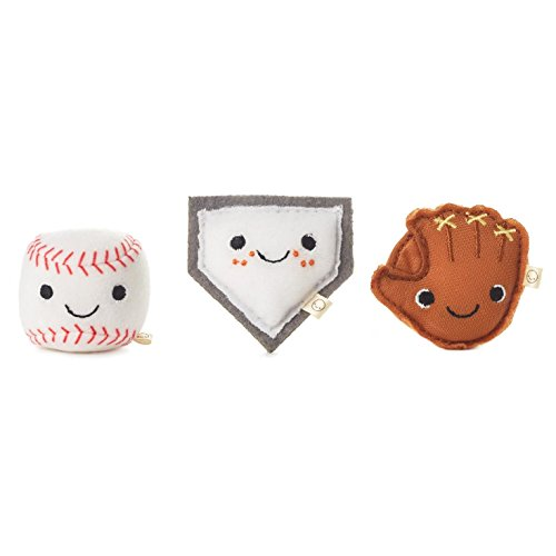 Plush Baseball (Happy Go Luckys Ballpark Buds Mini Stuffed Animals, Set of 3 Classic Stuffed Animals Sports & Activities)