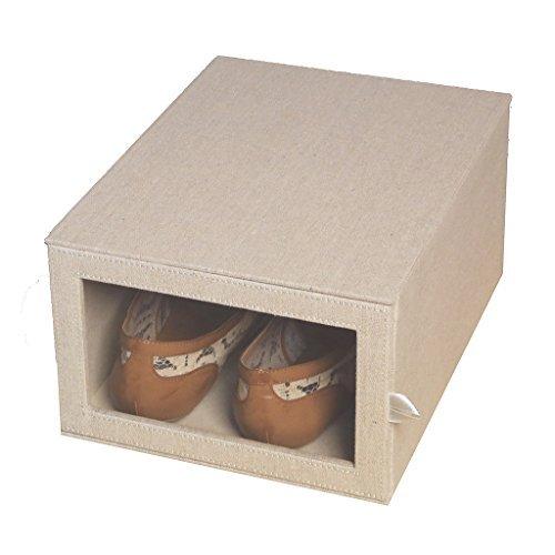 oft Arrow Drop Front Shoe Storage Perfect shoe size Beige ()