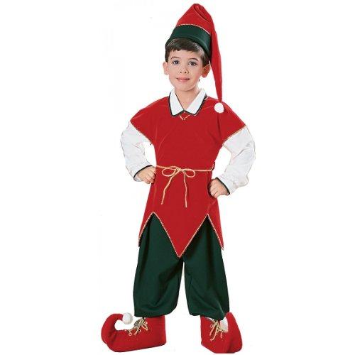 Children039;s Velvet Elf Suit Costume - Small (Velvet Elf Suit Costume)