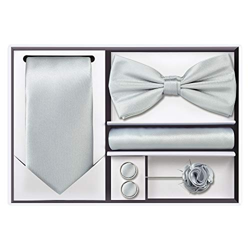 - 5pcs Tie set (Silver)
