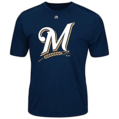 MLB Men's Synthetic Official Logo T-Shirt (Xlarge, Milwaukee Brewers)