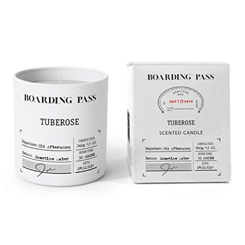 (Boarding Pass Mid Afternoon Tuberose Gardenia Orange Blossom Cedar Wood Scented Candle White 8.5oz)