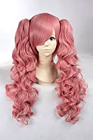 Cosplay Wig Pink Wig Long Pink Curly Wig Wigs