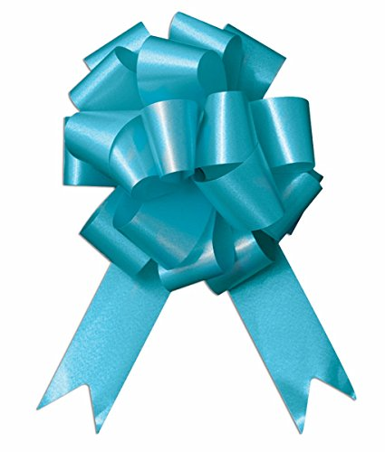 SKD Party by Forum 10-8'' Aqua Pull Bow Bows Pew Bows Wedding Decorations Wrap by SKD Party by Forum