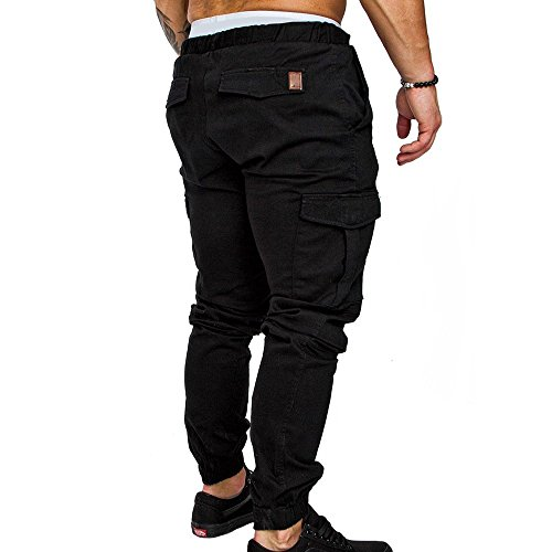 A Uomo pocket Tunica Da Tessuto Pantaloni 2018 Oneforus In Nero Multi Tooling Casual tqfBw8v