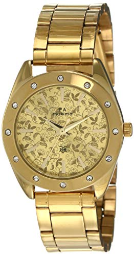 Maxima Analog Gold Dial Women #39;s Watch 52761CMLY