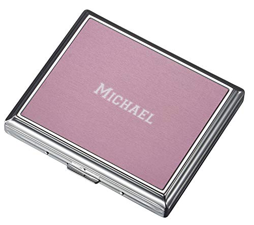 (Personalized Visol Chrome Plated Two Sided Cigarette Travel Case with Free Laser Engraving (Text))