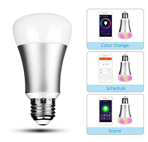 smart led light bulb voice control by e smartprime works with amazon echo alexa wifi app. Black Bedroom Furniture Sets. Home Design Ideas