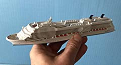 Souvenir Series waterline cruise ship model in scale 1:1250. Made by SCHERBAK SHIP MODELS in small quantity (designed and cast in USA, assembled and finished in Europe). Not recommended for small children. Display ready - not a kit. Model len...