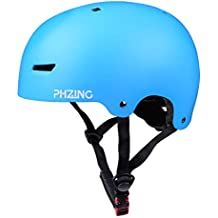 PHZING Skateboard Helmet with Adjustable System Ideal for Skateboard Longboard Scooter Skate/Inline Skating for Adults/Youth/Kids