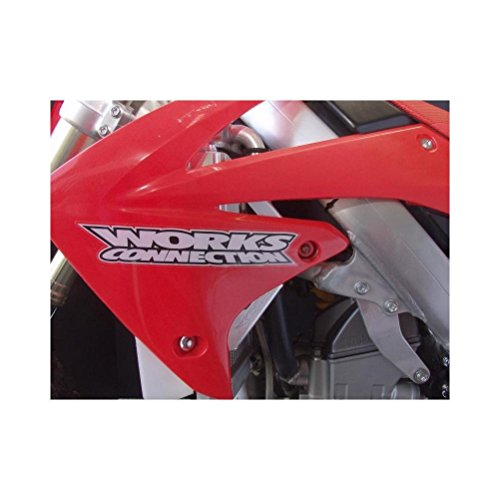 (14-17 HONDA CRF250R: Works Connection Radiator Braces (Silver))