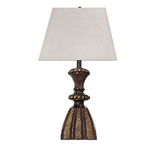 Antique Bronze Table Lamp - Desk Lamp - Reading Lamp- Head Desk Lamp - Bedroom Lamp - Study Lamp - Work Lamp - Bedside Nightstand Lamp - Living Room Family ()