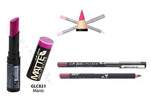 L.A. Girl Matte Velvet Lipstick GLC821 With GP533 Lip liner