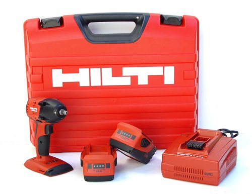 Hilti 03482659 SIW 18-A 3/8-Inch CPC 18-volt Cordless Impact Wrench and Impact Resistant Case with 3/8-Inch Square Chuck and Locking Ring