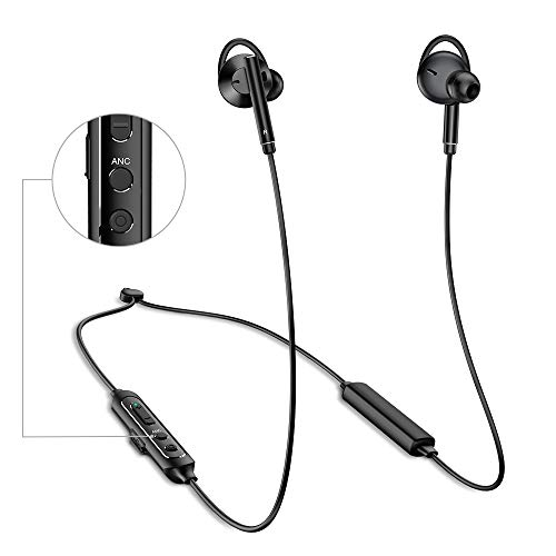 ANC Bluetooth Earbuds, Active Noise Cancelling Wireless Earbuds with Mic, 9-15H Playtime Neckband Bluetooth Headphones Earbuds, IPX5 Water-Resistance Wireless Neckband Earbuds HD Stereo Sound