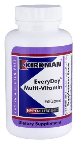 Kirkman EveryDay™ Multi-Vitamin - Hypoallergenic | 250 Vegetarian Capsules | Gluten Free | Casein Free