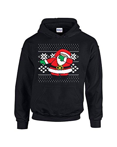 Dabbing Santa Christmas Ugly Design Unisex Pullover Hoodie Hooded (Adult Santa Hoodie)