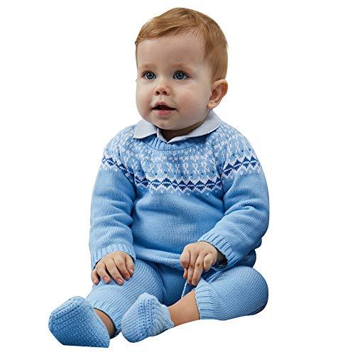a87094522 Jual Petit Clan Newborn Baby Boy 2 Pieces Cardigan with Pant Set ...