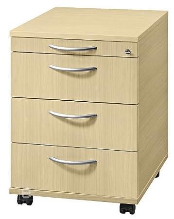 Büromöbel Rollcontainer Büro Container Ahorn Dekor AC33: Amazon.de ...