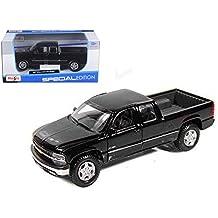 Maisto Chevrolet Silverado Special Edition Pickup Truck 1/27 Scale Diecast Model Vehicle Black