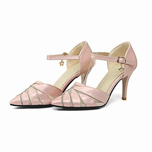 Mee Shoes Damen ankle strap Mesh high heels Pumps Pink