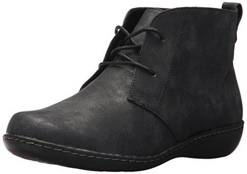Soft Style Hush Puppies Women's Jinger Ankle Bootie, Black Evening Nubuck, 10 W (Hush Puppies Oxford Heels)
