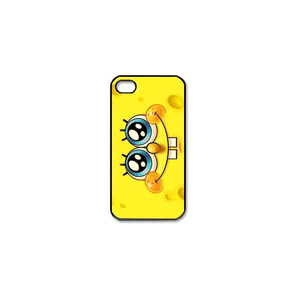 Personalized Cartoon SpongeBob SquarePants Protective Snap on Cover Case for iPhone 4/4S SS324