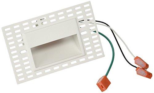 WAC Lighting WL-LED100TR-AM-WT 120V Trimless Horizontal Step Light, Amber by WAC Lighting