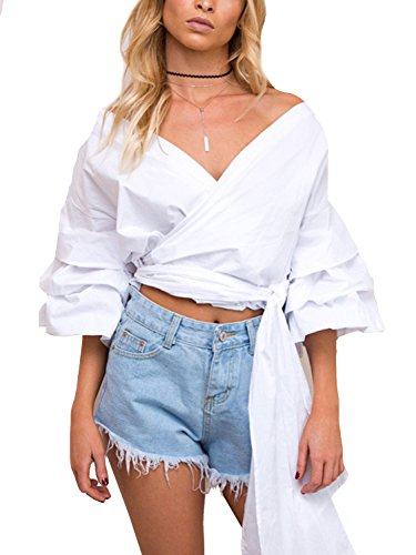 Simplee Apparel Womens Shoulder Blouse