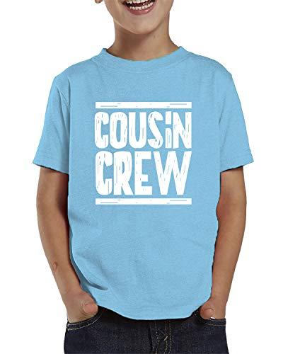 SpiritForged Apparel Cousin Crew Toddler T-Shirt, Light Blue 5T/6T