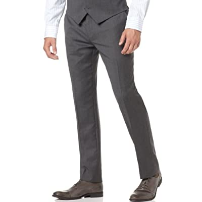 Cheap Alfani Red Men's Slim Fit Wool Grey Flat Front Dress Pant for cheap