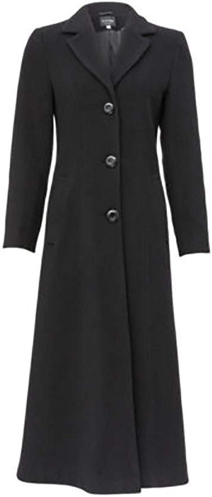 Anastasia Womens Black Long Smart Coat