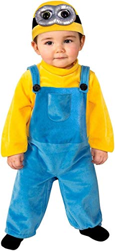 Rubie's Baby Boys' Minions Bob Romper Costume, Yellow, 3-4 Years X-Small -