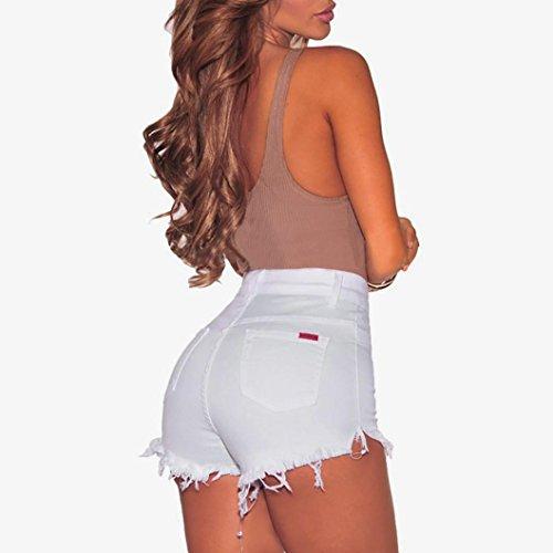♥-♥-♥-Pantalones Cortos para Mujer, RETUROM Moda Mujer Verano Pantalones Cortos Jeans Denim Shorts Vaqueros Slim Fit diámetro Agujero del Dril de algodón ...