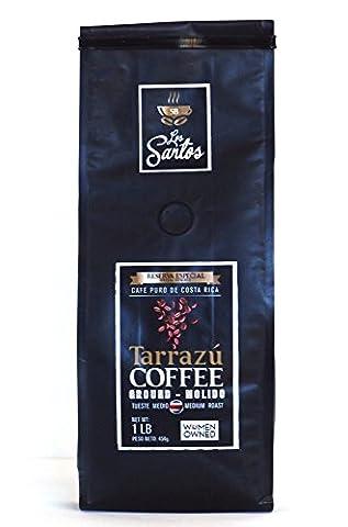 Tarrazu Coffee Reserva Especial Los Santos 1 lb medium roast (ground) - Blue Flowers Creamer