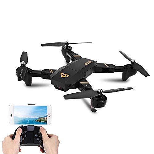 JJRC Drone Plegable VISUO XS809W con Camara de 720p FPV Transmisión en Vivo, Control de Altitud, One Key Return - Ideal para Principiantes