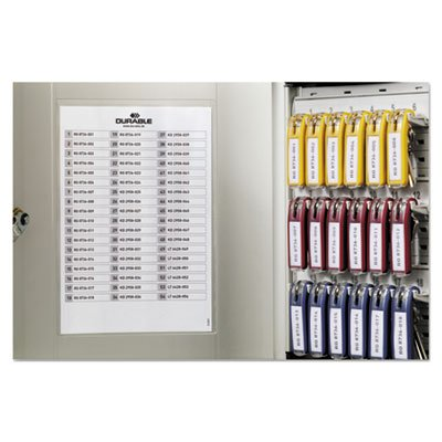 Locking Key Cabinet, 54-Key, Brushed Aluminum, Silver, 11 3/4 x 4 5/8 x 11, Sold as 1 Each by Durable