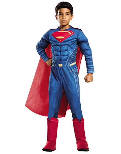 Rubie's Costume: Dawn of Justice Deluxe Muscle Chest Superman Costume, Small (Boys Superman Costume)