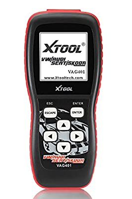 XTOOL VAG401 Live Data OBD2 Auto Scanner for VW, Audi, Seat and Skoda with Oil Reset, Airbag Reset and Actuation Test Function from Xtool